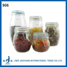 300ml high quanlity wholesale glass jam/honey jar with tin cap lid