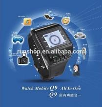 Q9 Watch Phone Unlock Dual SIM Quad Band Wrist Camera GSM GPRS Watch Mobile Cell Phone
