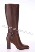 latest design high heel geuine leather shoes