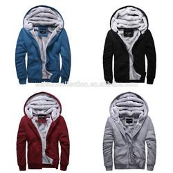 2014 Hot Men's Winter Sweatshirts Jackets Thick Velvet Hooded Zip Coat Hoodies