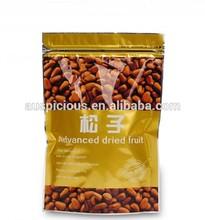 2015 Doypack Fruits Bags With Ziplock,Aluminum Foil Nuts Bags/kraft Paper Bag