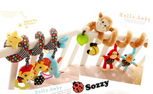 high quality sozzy brand lovely new born baby plush bed winding& bed circling toys