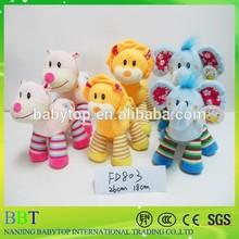 High quality cute three animal soft plush baby Toy, Stuffed Animals For Baby