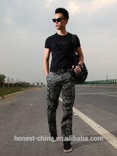 2015 militar de estampado de camuflaje pantalones de carga