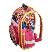 New design Transformers school backpack kids reflective school bag folded children