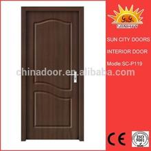 Single Design MDF interior pintu PVC door SC-P119