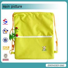 Nylon drawstring bag for promotion soft-loop shopping drawstring bag