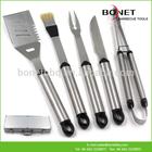 QAS0063 New disgn 5Pcs BBQ Tools Aluminum Case