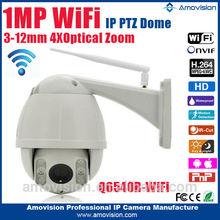 2015NEW!! Amovision Q6540R wifi H.264 onvif 1 MP IR 4X Zoom speed dome wireless wifi ip camera dome