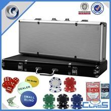 Professional Casino Special Purpose cases gambling box aluminum case with square casino chips