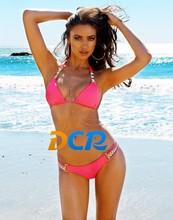 2015 Exotic top quality good price bikini Set swimwear for womens ush up swimsuit (ODM/OEM)