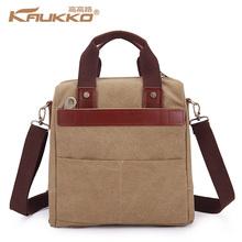 High Quality Genuine Leather Messenger Bag Tablet Cross Body Bag Men's Handbag Canvas Handbag Travel Bag