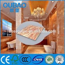 2015 new product faux stone pvc composite interior decoration plastic roof