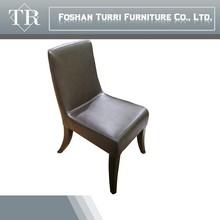 modern black PU leather dining chair