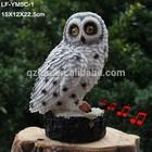 Hot sale polyresin sensor owl with eyes light