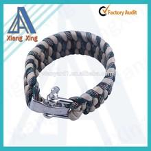 Metal Buckle Whistle Paracord 550 Survival Bracelet Wristband