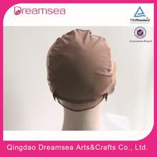 Wholesale black and brown color stock cheap mesh weaving wig cap silk lace cap