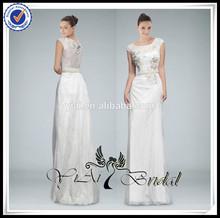 EDQ208 Elegant Beach Style Short Style Beaded Embroidered Evening Dress