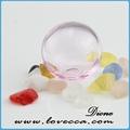 mão soprado ofício bola de vidro transparente