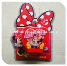 cute cartoon pen container custom heart shaped kids plastic pen stand