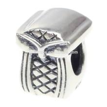 Wholesale 925 Sterling Silver Charm Animal Slim Eye Owl for 3mm Thick European Bracelet
