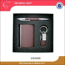 Gift Business Card Use and Leather Material business card holder set