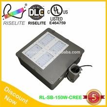 150w dlc cul ul high lumen 115-120v shoebox light company