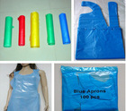 disposable plastic cleaning cooking apron