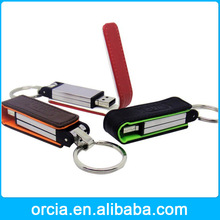 OEM logo leather usb flash drive best gift leather usb flash drive full capacity usb flash drive16gb