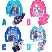 2015 new arrival kid boys and girls sleepwear frozen pajamas