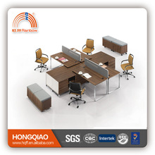 (MFC)PT-06 metal frame office table MDF office workstation used office workstation for 4 persons