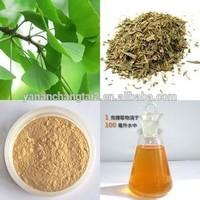 Hot Sale GMP Certificate 100% Pure Natural Ginkgo Biloba Leaf Extract