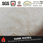 Wholesale 100 polyester fire resistant voile embroidery fabric