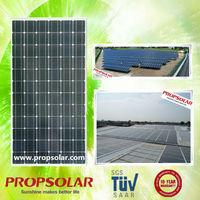 25 years warranty A grade 300 watt monocrystalline solar panel