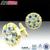 Gold plated cheap make custom cufflinks enamel engraved