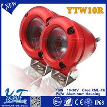 Y&T 10w YTW10R E-mark/ECE approval motorcycle front light led headlight led spolights driving program led bicycle wheel spoke li