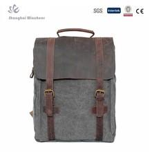 Unisex Canvas Rucksack Multi-function School Bag Travel Bag Vintage Canvas Backpacks