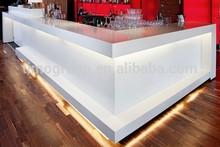 White seamless Bar counter