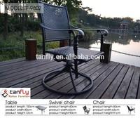 Florida Black Outdoor Swivel Chair Cast Aluminum Chair.