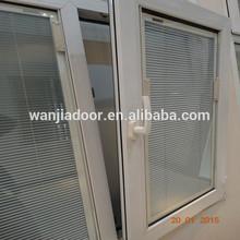 Fancy pvc windows with internal blinds (WJ-PCW-689)