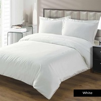 White solid 100% egyptian cotton hotel brand bed sheet queen size