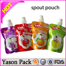 Yason key holder pouch shinning plastic heatseal stand up bottom pouches stand up bags/spout pouches/fruit juice bags with botto