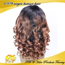 QingDao Top Beauty full lace wig low price two tone color 1b/30 lace wig
