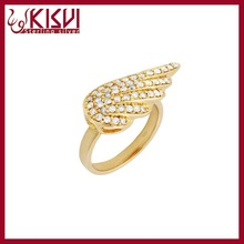 2015 sterling silver Ring, Kisvi angel wing new design gold finger ring Jewelry Wholesale