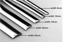 Pvc y cromo 15mm*15m del cuerpo del coche tira de la decoración
