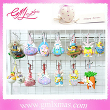 beautiful easter polymer clay craft,handmade easter decorations polymer clay,happy easter hanging clay crafts