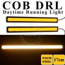 China Supplier High Brightness 12W Car COB DRL LED Daytime Running Light 12V