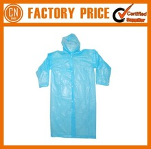 2015 New Fashion Customized Printed Disposable Rain Poncho