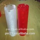 Colorful transparent pvc clutch bag plastic pvc bag clear pvc wine ice box
