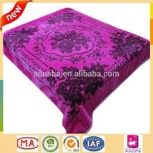 purple polar fleece throw indian 2 ply mink flower pattern printed mora blanket spain